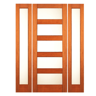 Modern Mahogany Sidelite Unit Front Door - RB08 - SPECIAL ORDER