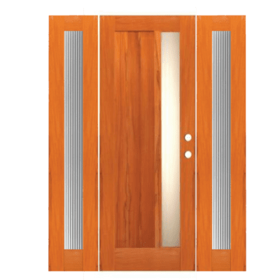 Modern Mahogany Sidelite Unit Front Door - R13 - SPECIAL ORDER