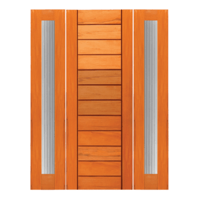 Modern Mahogany Sidelite Unit Front Door - R22 - SPECIAL ORDER